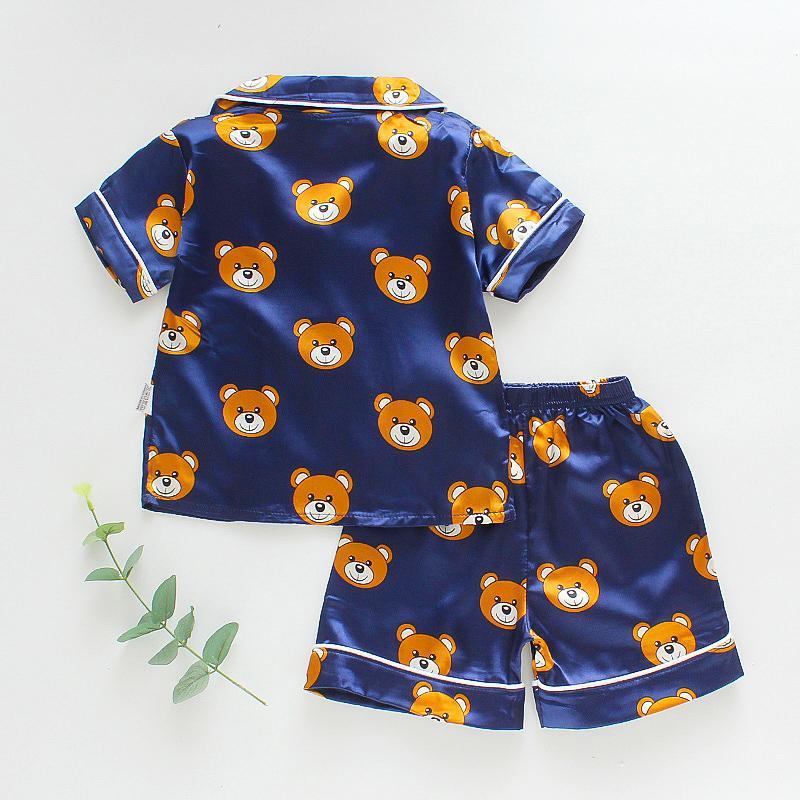 2-piece Animal Pattern Pajamas for Toddler Boy