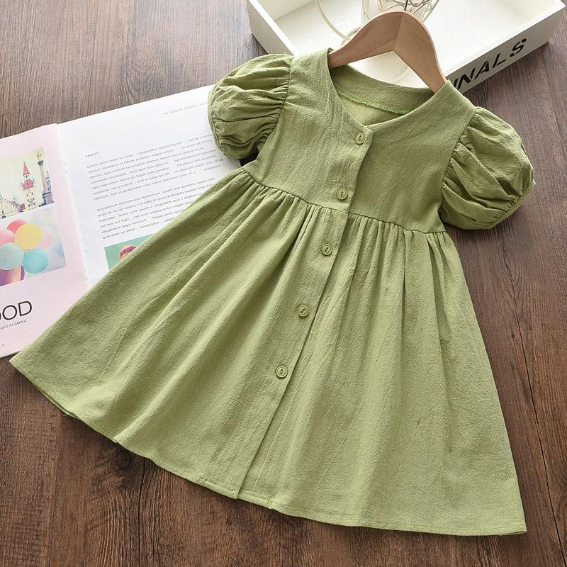 Solid Ruffle Dress for Toddler Girl