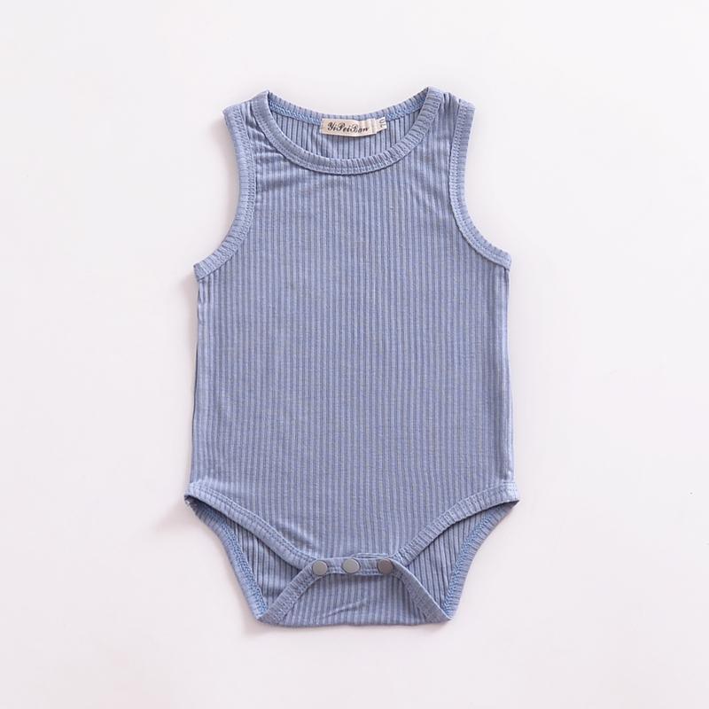 Solid Sleeveless Knitted Bodysuit