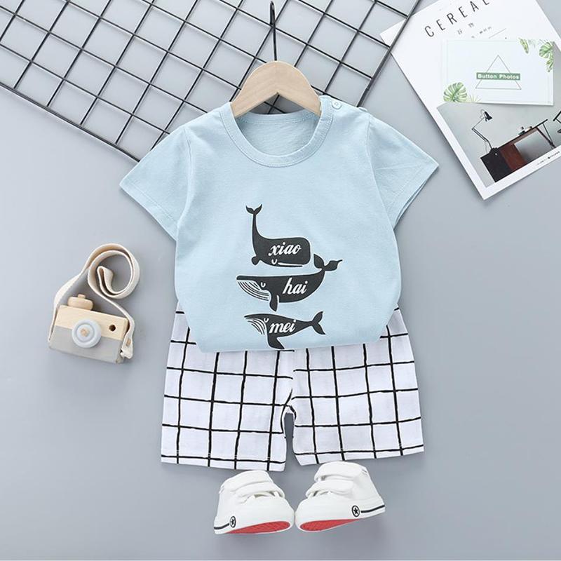 2pcs Cute Prints T-shirt and Pants