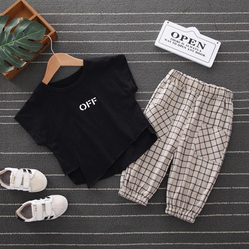 2pcs Fashion Design Print T-shirt and Pants