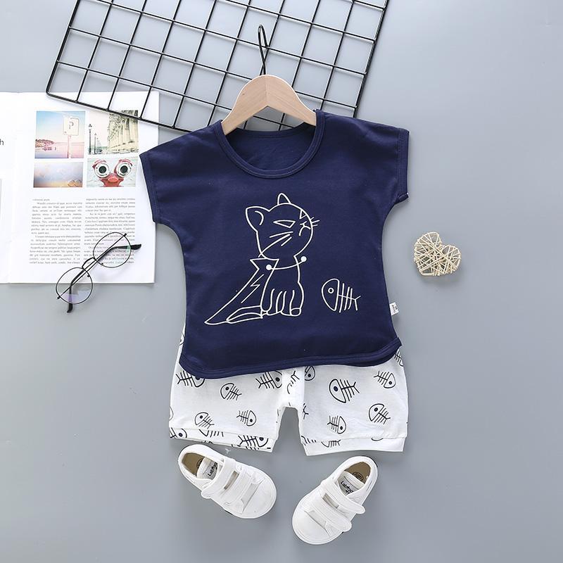 2pcs Cute Cartoon Print T-shirt Pantsuits