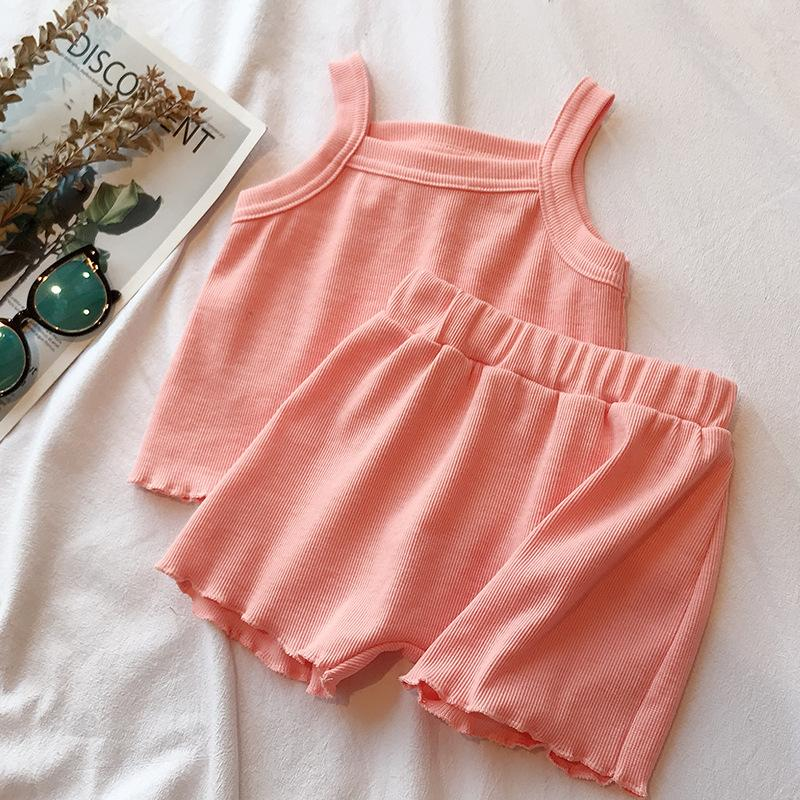 Solid Tank Top and Shorts Set