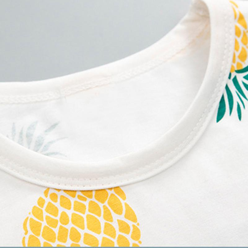 2-piece Pineapple Printed T-shirt & Solid Shorts for Toddler Boy