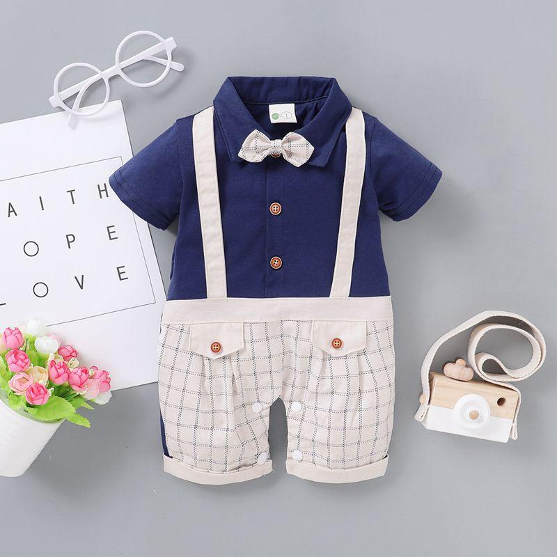 Gentleman Bow Decor Jumpsuit for Baby Boy