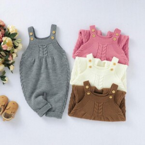 Solid Sling Jumpsuit for Baby Girl