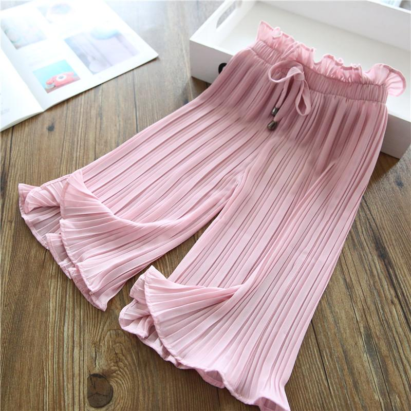 Solid Chiffon Pants for Toddler Girl