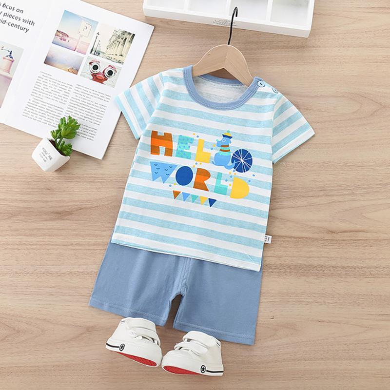 2pcs Cute Cartoon Print T-shirt and Pants