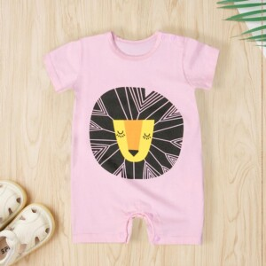 lion Printed Bodysuit for Baby