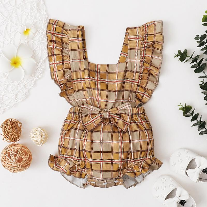 Plaid Boxer Romper for Baby