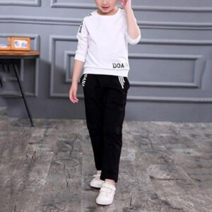 Girl Clothes 2pce Long Sleeve T-shirt and Sweatpants Spring Suit
