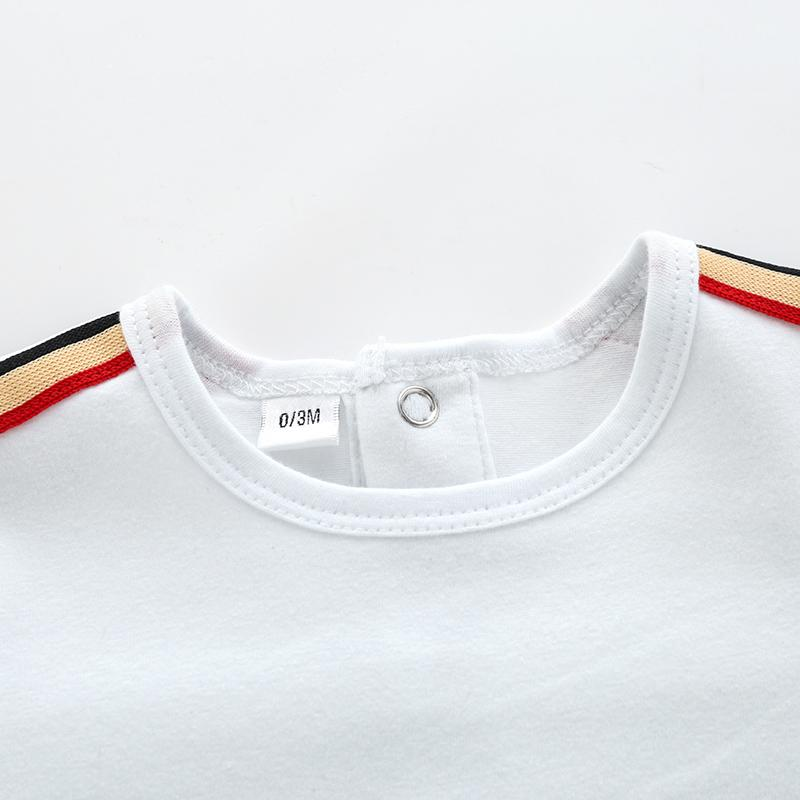 Short Sleeve Striped Bodysuit for Baby