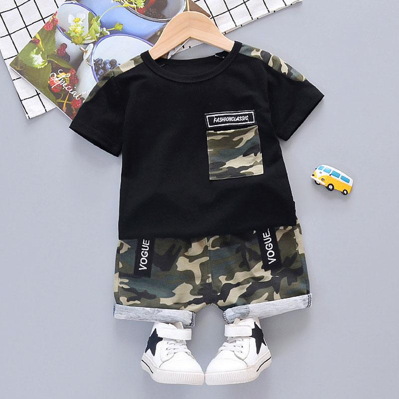 2-piece Camouflage T-shirt & Shorts for Toddler Boy