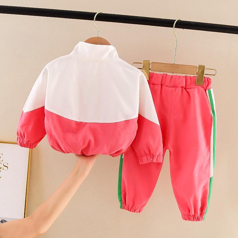 2-piece Letter Pattern Coat & Pants for Toddler Girl