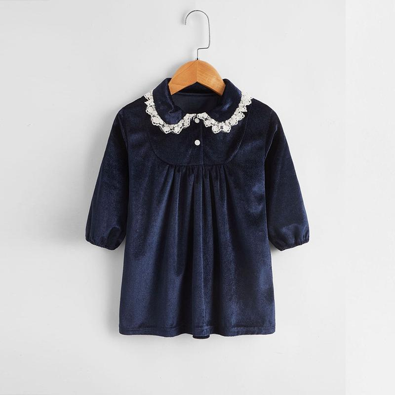 Ruffle Velvet Dress for Baby Girl