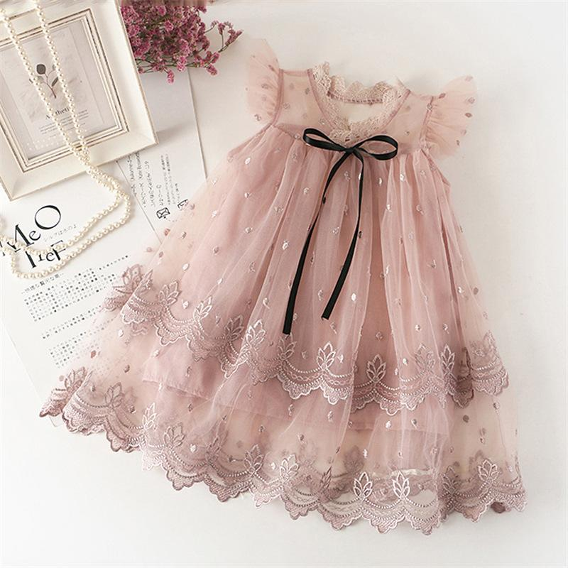 Embroidered Tulle Dress for Toddler Girl