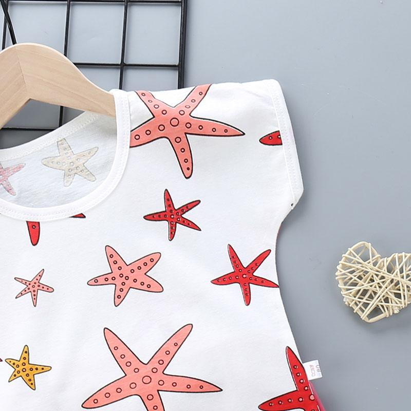 2pcs Cute Pentagram Print T-shirt and Pants