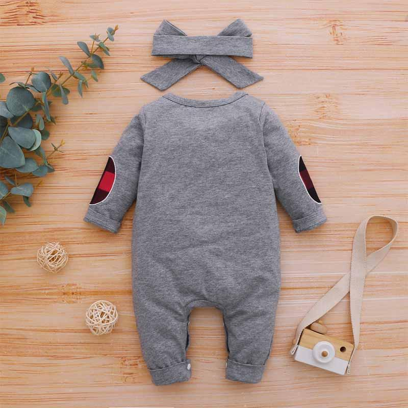 2-piece Bowknot Jumpsuit & Headband for Baby Boy
