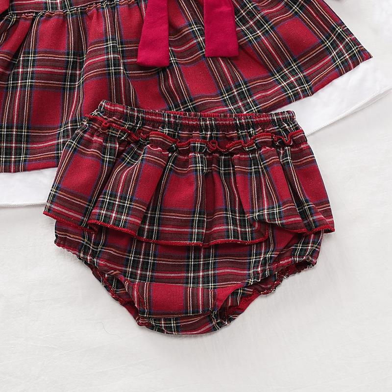 2-piece Plaid Dress & Shorts for Baby Girl