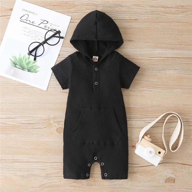 Cotton Solid Hooded Bodysuit