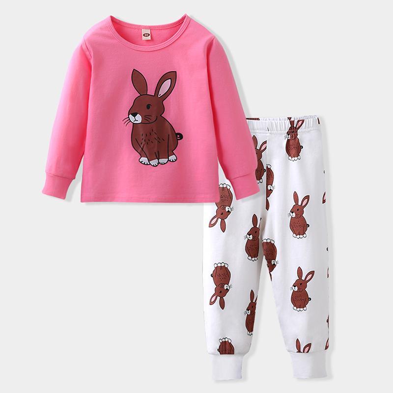 2-piece Cartoon Pajamas Sets for Toddler Girl