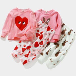2-piece Cartoon Pajamas Sets for Toddler Girl