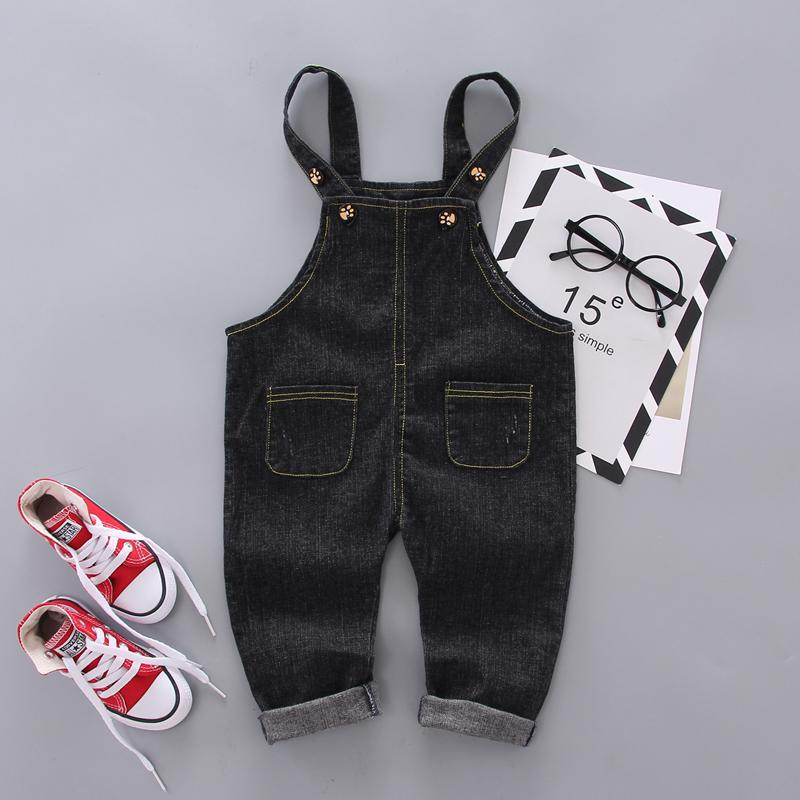 Simple Solid Color Imitation Jeans For Children