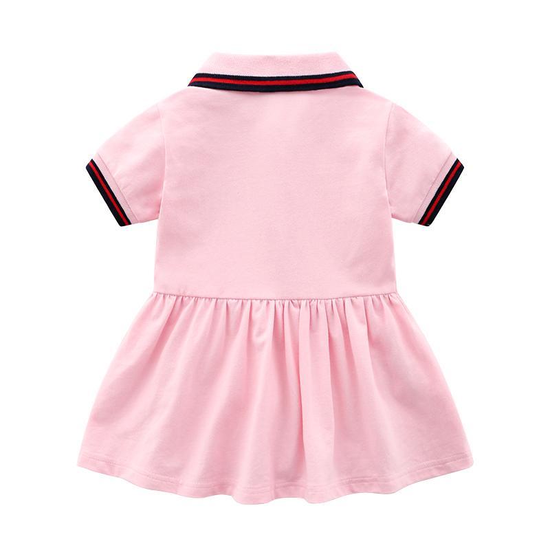 Cute Stripe Solid Short-sleeve Dress