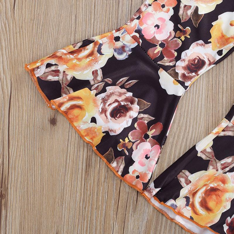 Sleeveless Velvet Top and Floral Pants Set