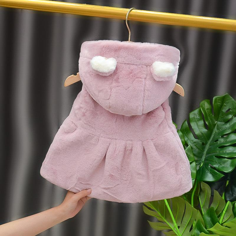 Rabbit Winter Fleece-lined Gilet for Toddler Girl