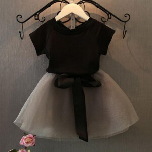 Casual Patchwork Tulle Dress for Toddler Girl