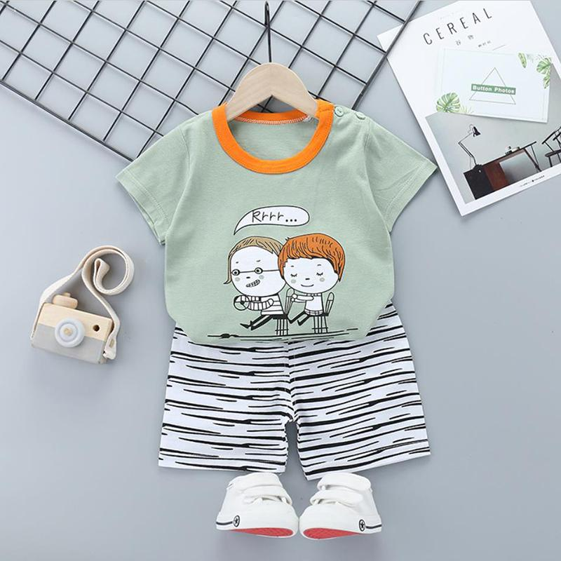 2pcs Cute Prints T-shirt and Pants No Shoes