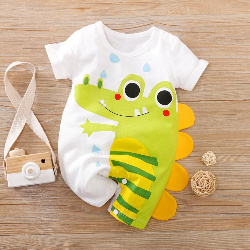 Animal Crocodile Pattern Bodysuit for Baby Boy