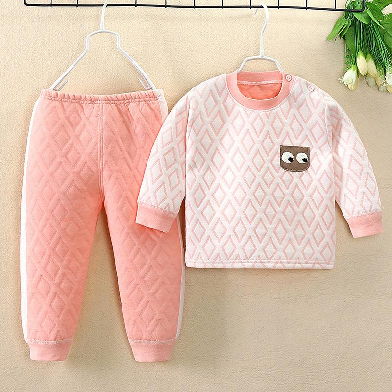 2-piece Plaid Thick Pajamas Sets for Toddler Girl