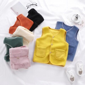 Solid Polar Fleece Gilet for Toddler Boy
