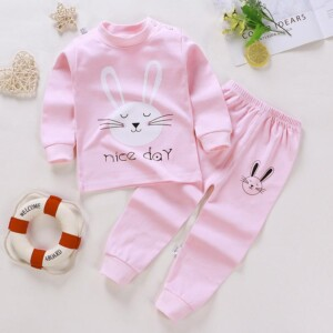 2-piece Cartoon Design Pajamas Sets for Toddler Girl
