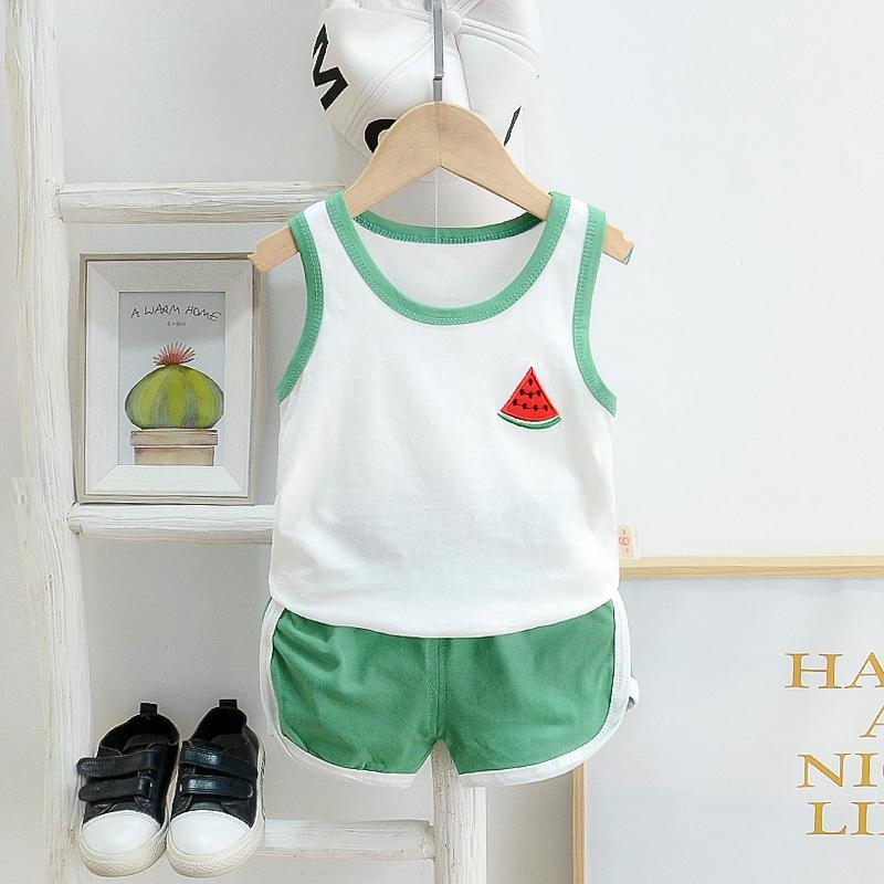 2pcs Cute Fruit Print Vest and Pants