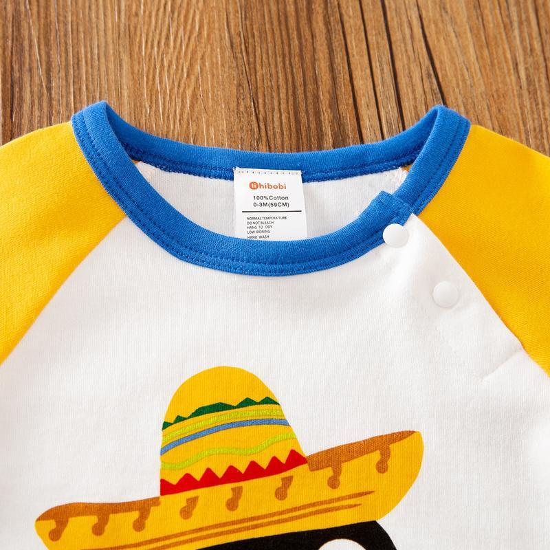 Cartoon Penguin Color Match Jumpsuit for Baby