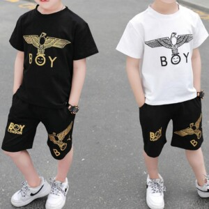 2-piece Animal Pattern T-shirt & Shorts for Toddler Boy