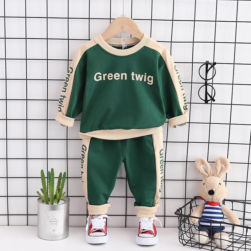 2-piece Letter Sweatshirt and Pants Set(No Shoes)