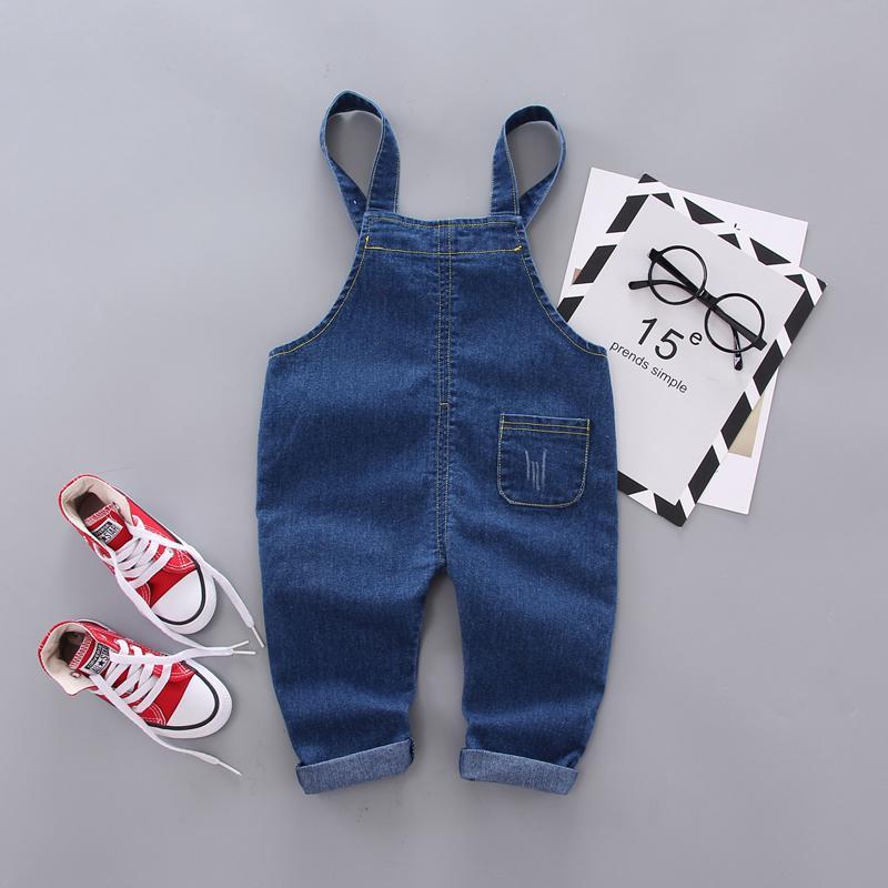 Simple Solid Color Imitation Jeans For Children