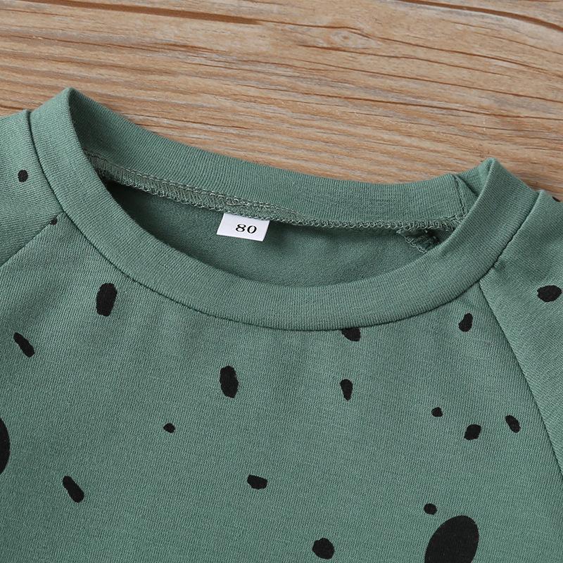 2-piece Bear Pattern Long Sleeve T-shirt & Pants for Toddler Boy