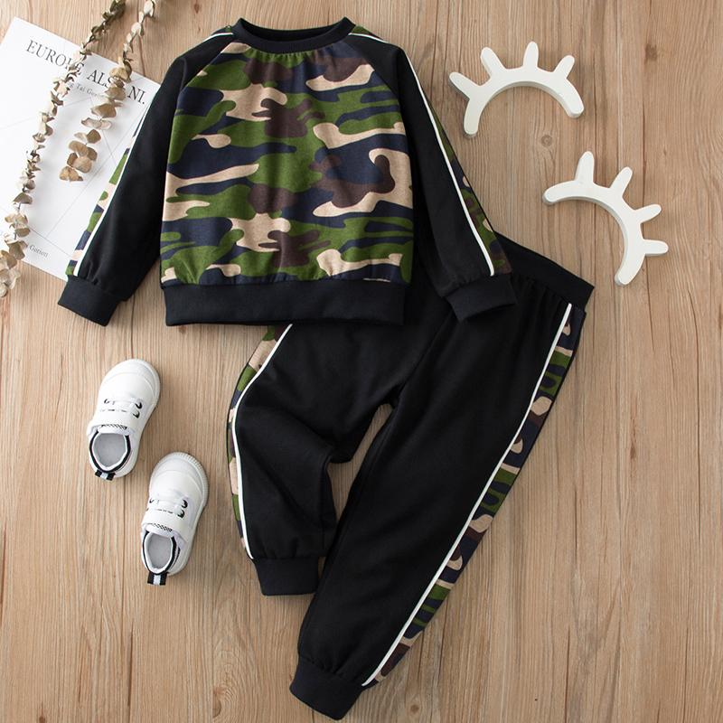 2-piece Camouflage Sweatshirt & Pants for Toddler