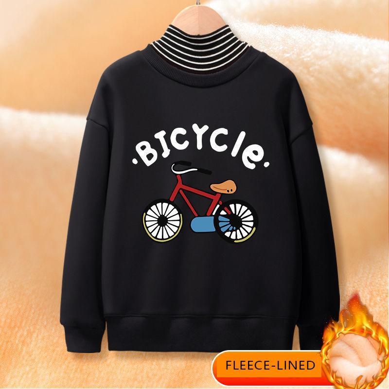 Fleece-lined Turtleneck Sweatshirt for Boy