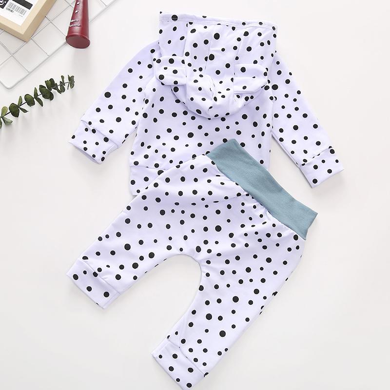 2-piece Polka Dot Hoodie & Pants for Baby
