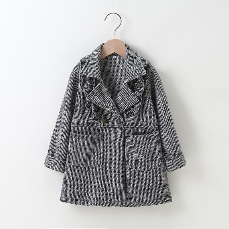Ruffle Duffle Coat for Toddler Girl
