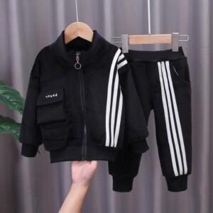 2-piece Fleece-lined Coat & Pants for Toddler Boy