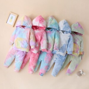 2-piece Tie dye Hoodie & Pants for Baby
