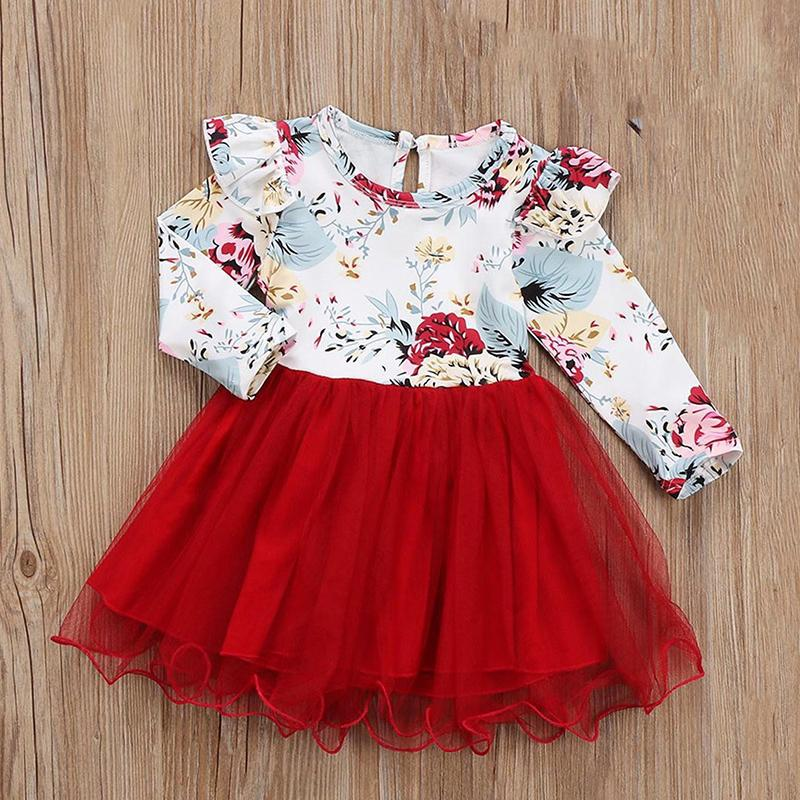 Ruffle Floral Dress for Toddler Girl