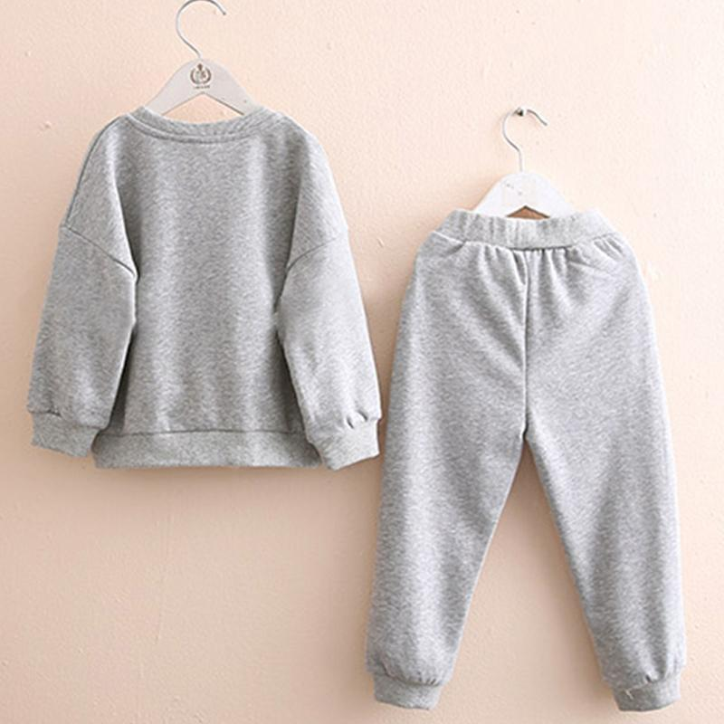 2-piece Unicorn Pattern Sweatshirt & Pants for Girl